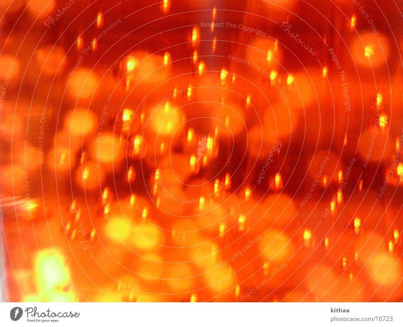 Blubber Farbe orange Flüssigkeit blasen Lichtspiel Mineralwasser Fototechnik