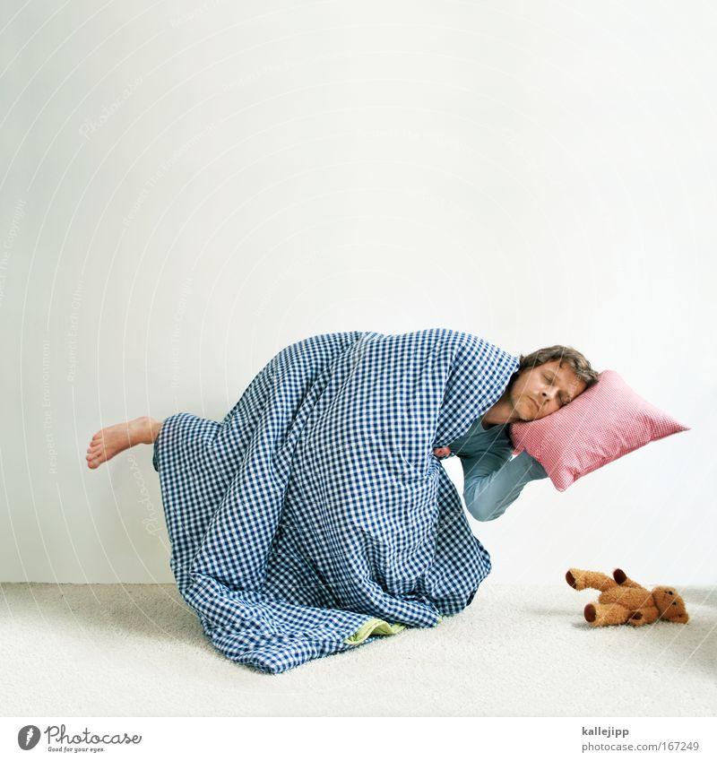 traumland Textfreiraum oben Gesundheit Wellness Wohlgefühl Zufriedenheit Erholung ruhig Freizeit & Hobby Häusliches Leben Wohnung Schlafzimmer Mann Erwachsene