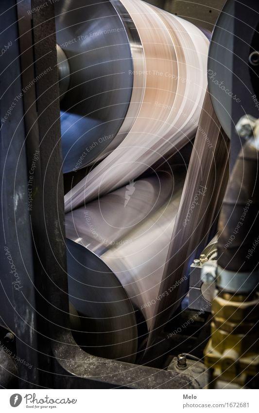 Rollenoffset II Drucker Maschine Druckmaschine Industrie elegant Flüssigkeit rund Klischee Genauigkeit innovativ skurril Stimmung Farbfoto Textfreiraum unten