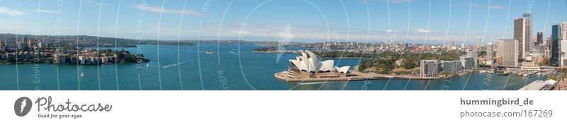 Sydney Panorama blau Stadt Ferien & Urlaub & Reisen Meer Haus Ferne Freiheit Architektur Park groß Hochhaus Tourismus Bürogebäude Bankgebäude Bauwerk Hafen