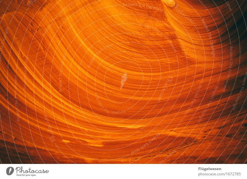 Upper Antelope Canyon [11] Ferien & Urlaub & Reisen Tourismus Ausflug Hügel Felsen Berge u. Gebirge Schlucht Stein Sand berühren eckig USA Amerika Felswand