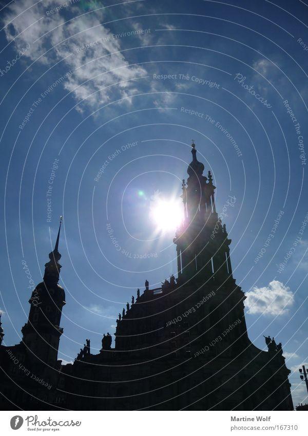 Hofkirche Ferien & Urlaub & Reisen Tourismus Sightseeing Städtereise Kultur Dresden Deutschland Europa Stadt Kirche Sehenswürdigkeit Stimmung Kirchturmspitze