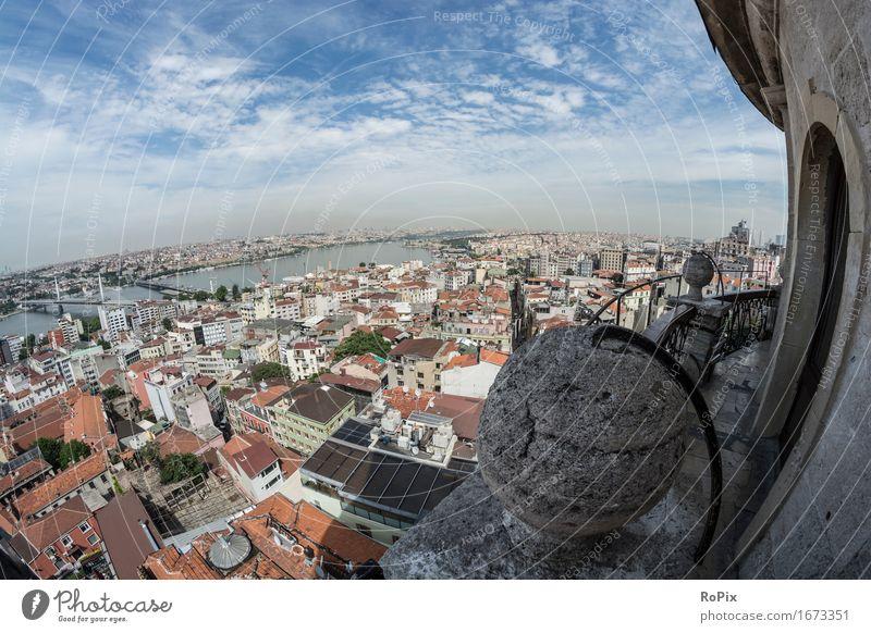 Istanbul Ferien & Urlaub & Reisen Tourismus Freiheit Sightseeing Städtereise Sommer Architektur Umwelt Landschaft Luft Erde Himmel Horizont Flussufer Galata