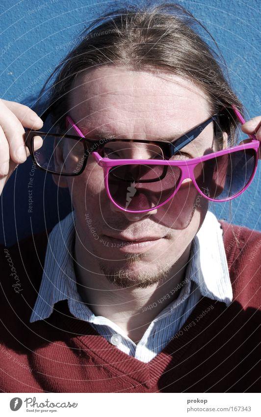 Sixeyed Snake Mensch Mann Sonne Sommer Gesicht Ferien & Urlaub & Reisen Erholung Stil Haare & Frisuren Kopf hell Erwachsene maskulin Finger Coolness Brille