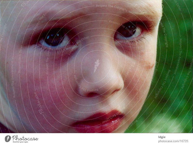 sorry Mensch Kind Gesichtsausdruck