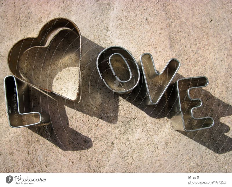 L<3 ove Liebe Herz Metall Kochen & Garen & Backen Romantik Schriftzeichen Metallwaren Verliebtheit Teigwaren Plätzchen Frühlingsgefühle Spielzeug Sandspielzeug