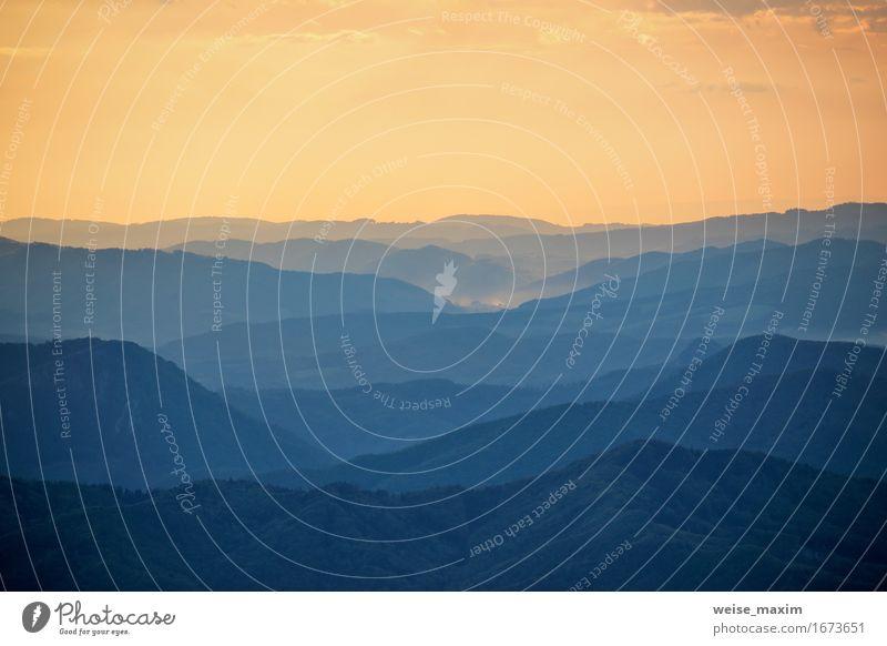 Bunter Sonnenuntergang in Tatra-Bergen in Slowakei schön Ferien & Urlaub & Reisen Sommer Berge u. Gebirge Tapete Natur Landschaft Himmel Sonnenaufgang Frühling