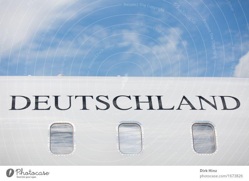 . Himmel Ferien & Urlaub & Reisen Bewegung Flugzeugfenster Deutschland Tourismus Verkehr Luftverkehr Schriftzeichen Technik & Technologie Zukunft Industrie