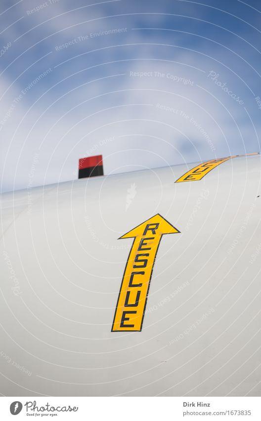 RESCUE Ferien & Urlaub & Reisen Leben Verkehr Ordnung Luftverkehr Schriftzeichen Schilder & Markierungen Technik & Technologie Perspektive Zukunft Hinweisschild