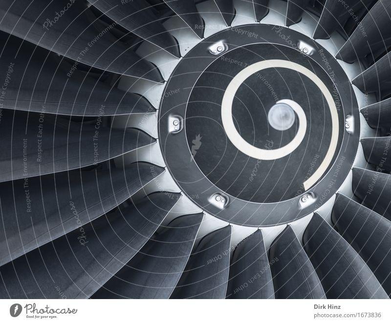 Antrieb Maschine Motor Technik & Technologie Luftverkehr Verkehr Verkehrsmittel Flugzeug Passagierflugzeug Flughafen Flugplatz fliegen modern Bewegung Design