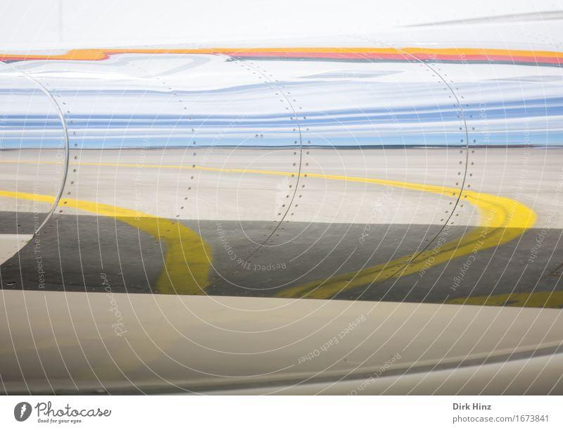 400 Ferien & Urlaub & Reisen Kunst außergewöhnlich Linie Design Horizont glänzend Verkehr Luftverkehr ästhetisch Technik & Technologie Flugzeug Unendlichkeit