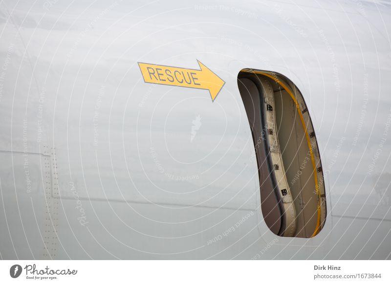 Rettung Technik & Technologie Luftverkehr Schriftzeichen Schilder & Markierungen Hinweisschild Warnschild Pfeil Hilfsbereitschaft Leben Ferien & Urlaub & Reisen