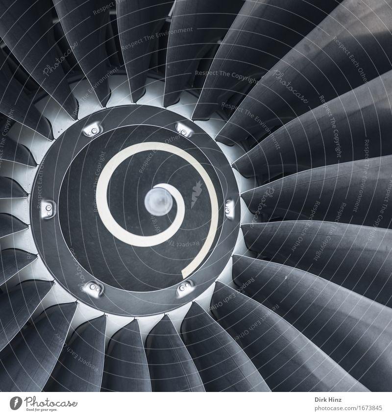 Triebwerk Ferien & Urlaub & Reisen Bewegung Tourismus Metall Design Verkehr Luftverkehr Technik & Technologie Zukunft Flugzeug Industrie Strahlung