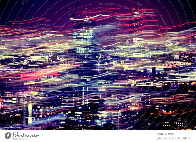 London bei Nacht ohne Stativ Lifestyle Reichtum Ferien & Urlaub & Reisen Tourismus Sightseeing Städtereise Nachtleben Entertainment ausgehen Kapitalwirtschaft