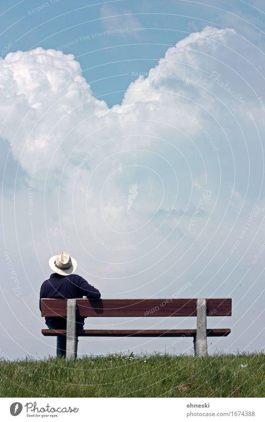 Aussichten Stil Erholung ruhig Ferien & Urlaub & Reisen Ferne Freiheit Sommer Mensch maskulin Männlicher Senior Mann Leben 1 60 und älter sitzen Sehnsucht Zeit