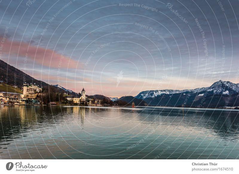 Wolfgangsee / Abenddämmerung Leben harmonisch Wohlgefühl Zufriedenheit Sinnesorgane Erholung ruhig Meditation Duft Schwimmen & Baden Angeln
