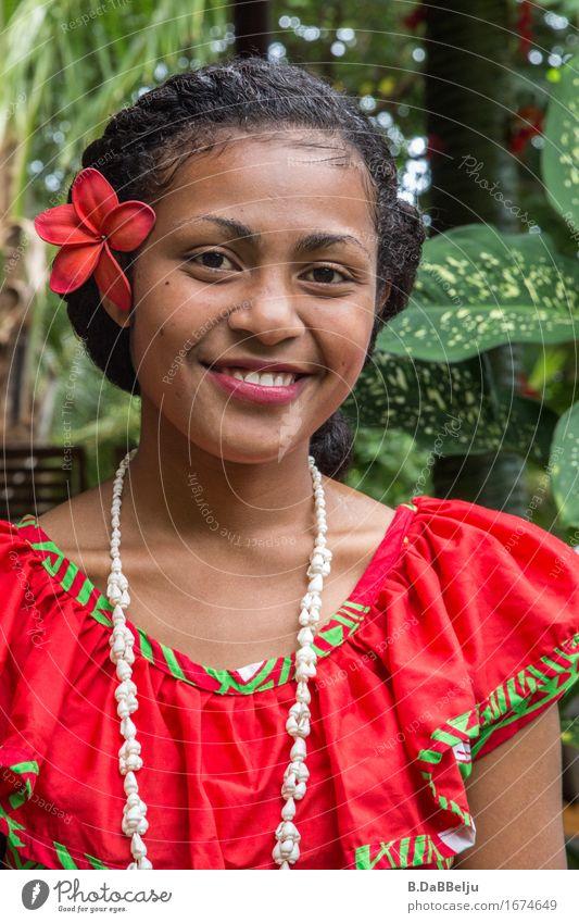 Bula, welcome to Fiji Mensch Frau Ferien & Urlaub & Reisen Jugendliche Junge Frau schön Ferne 18-30 Jahre Erwachsene feminin Glück leuchten Zufriedenheit