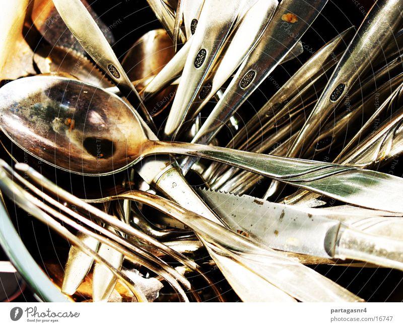 Messer, Gabel, Löffel Küche Messer Besteck Gabel Löffel Oxidation