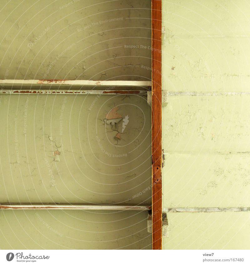 Graphikdesign sechs alt Farbe Holz braun Wohnung Ordnung trist kaputt Wandel & Veränderung Dekoration & Verzierung Häusliches Leben streichen Innenarchitektur Möbel trashig Verzweiflung