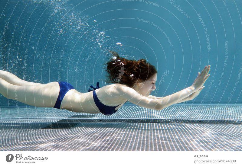 Mermaid Wellness Leben harmonisch Sinnesorgane Erholung Spa Schwimmbad Schwimmen & Baden tauchen feminin Junge Frau Jugendliche 1 Mensch 13-18 Jahre Luft Wasser