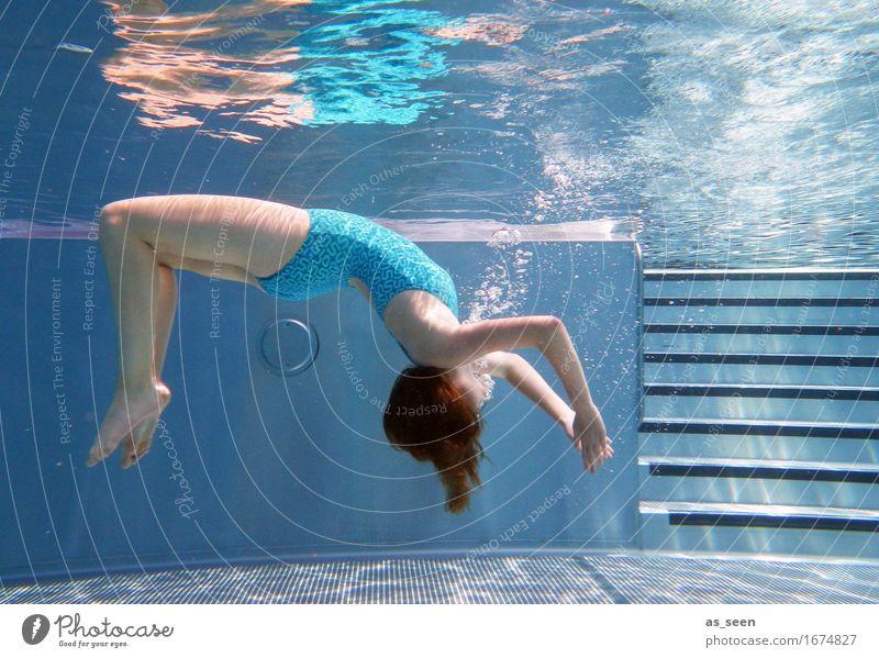 Flow elegant schön Gesundheit Wellness Leben harmonisch Wohlgefühl Erholung Meditation Schwimmbad Schwimmen & Baden Sommer Sommerurlaub Jugendliche Körper 1