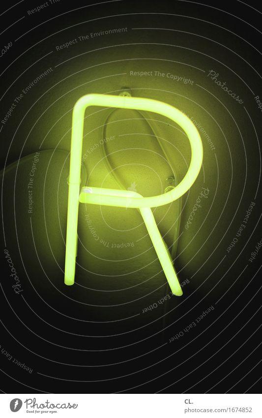 R grün dunkel gelb Beleuchtung Schriftzeichen Zeichen Leuchtreklame Beleuchtungselement Leuchtstoffröhre