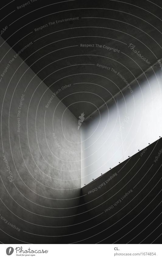ecke Ferne dunkel Fenster Architektur Wand Gebäude Mauer