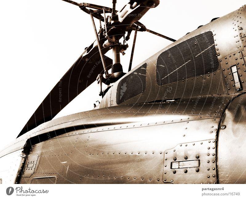 Hubschrauber Technik & Technologie Niete Militär Elektrisches Gerät sepiafarben