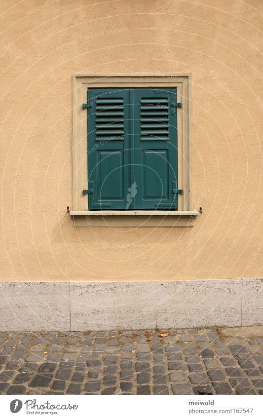 Heute nicht! alt grün Sommer ruhig Haus Einsamkeit Farbe Wand Tod Fenster Holz grau Stein Traurigkeit Mauer braun