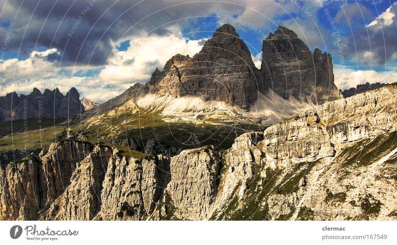 drei zinnen Farbfoto Außenaufnahme Menschenleer Tag Panorama (Aussicht) Blick nach vorn Umwelt Natur Landschaft Felsen Alpen Berge u. Gebirge Wege & Pfade Ferne