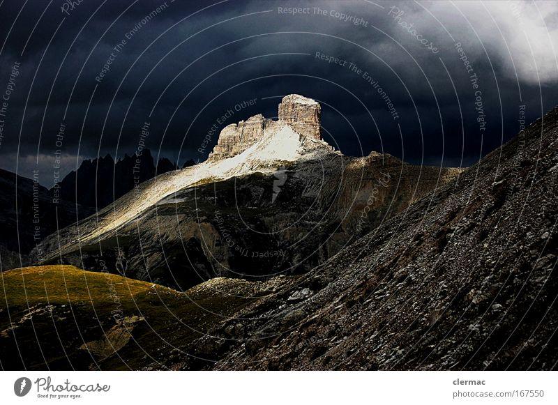 gewitter Natur Landschaft Ferne Berge u. Gebirge Wege & Pfade groß Gipfel Alpen Klettern Unwetter Gewitter Dolomiten Sextener Dolomiten