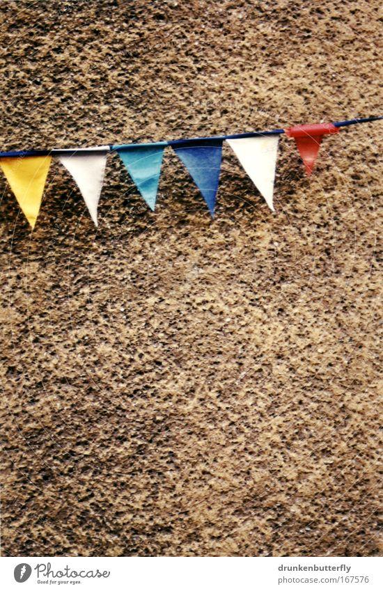 Hausschmuck weiß blau rot Freude gelb Spielen grau Feste & Feiern Beton Freizeit & Hobby Kunststoff hängen eckig