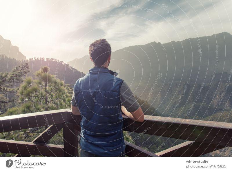 A Room with a View maskulin Sport Mann sportlich wandern Bergsteiger Spaziergang Panorama (Bildformat) Aussicht genießen Sonnenaufgang Berge u. Gebirge Voralpen