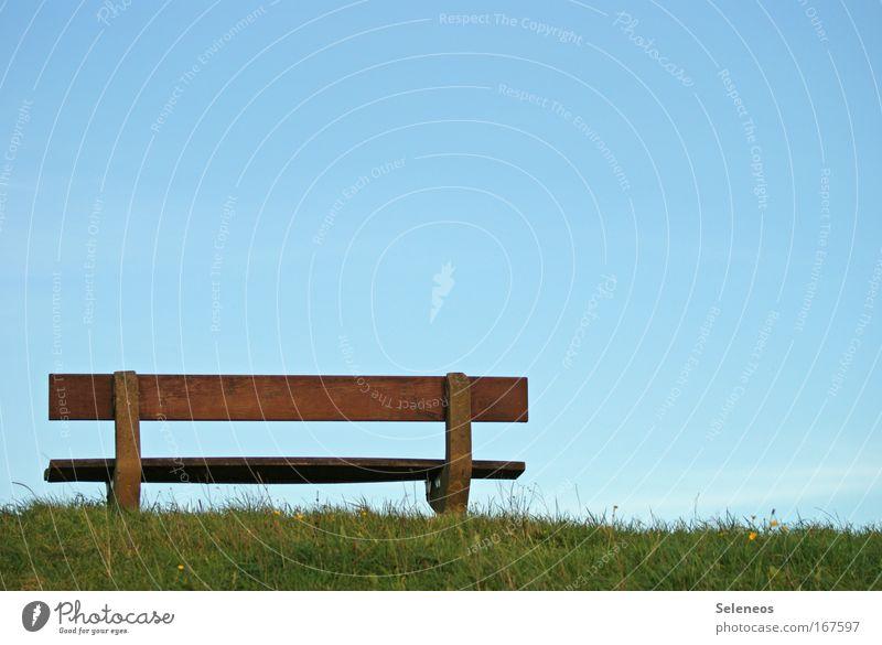 Aussicht Natur Himmel Ferien & Urlaub & Reisen ruhig Einsamkeit Ferne Erholung Herbst Gras Freiheit Holz Landschaft Luft Zufriedenheit Küste Umwelt