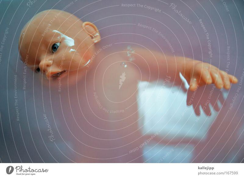 zu heiss gebadet Wasser Auge Tod Spielen Kopf Kindheit Freizeit & Hobby Baby Mund Arme rosa Haut Schwimmen & Baden Nase Finger bedrohlich