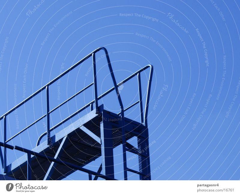 Leiter in den Himmel? blau Industrie Stahl Aktien