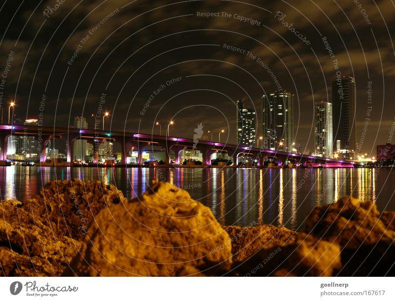 Stadt Architektur Brücke Reichtum Skyline Nacht Hafenstadt