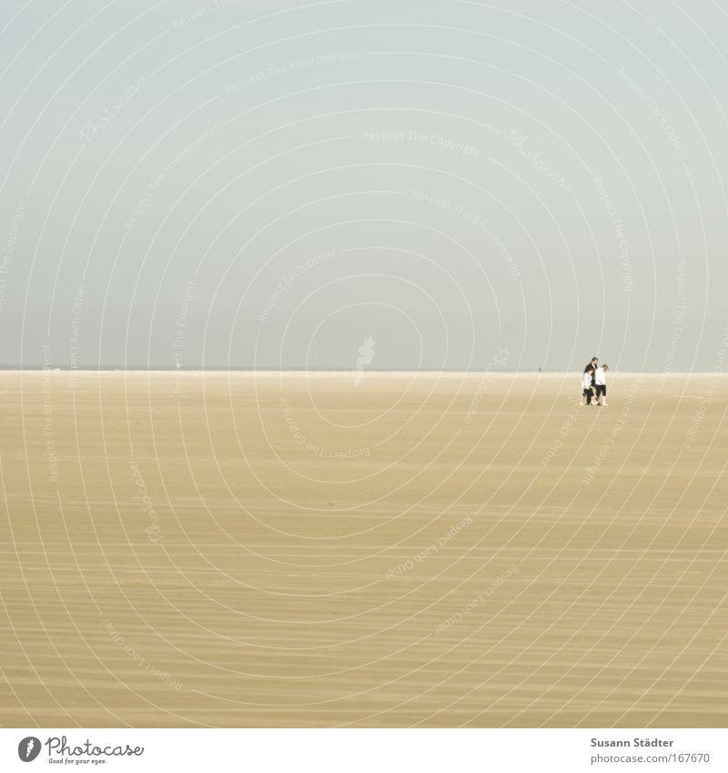 Dreisamkeit Mensch Kind Meer Strand Tier Einsamkeit Landschaft Küste Zusammensein Wind Insel Wüste Schönes Wetter Nordsee Detailaufnahme Klimawandel