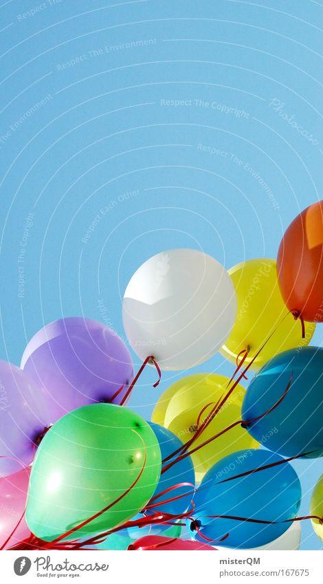 Flying Away With You. Freude Ferne Erholung Leben Bewegung träumen Stimmung Kunst Zeit Freizeit & Hobby elegant Design Erfolg mehrfarbig Luftballon Kultur
