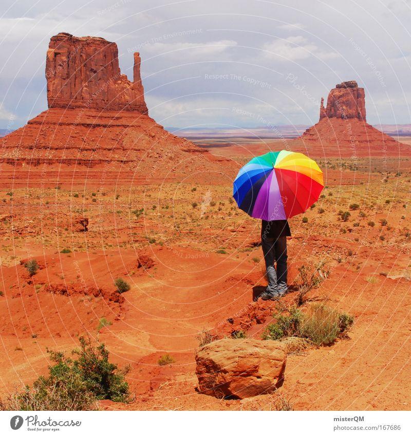 Loving Colours. rot Ferien & Urlaub & Reisen Freiheit Berge u. Gebirge Sand Stein Regen Wetter Freizeit & Hobby Tourismus verrückt außergewöhnlich einzigartig