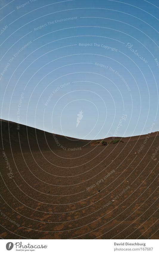 Karges Land Natur blau Ferien & Urlaub & Reisen Landschaft Umwelt Wärme Sand Horizont braun Hintergrundbild Erde Reisefotografie dreckig Insel Schönes Wetter Wüste