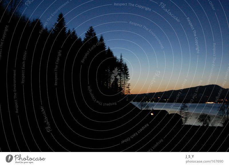 day 'n' night Farbfoto Außenaufnahme Menschenleer Abend Dämmerung Nacht Sonnenaufgang Sonnenuntergang Natur Landschaft Wasser Himmel Nachthimmel Horizont