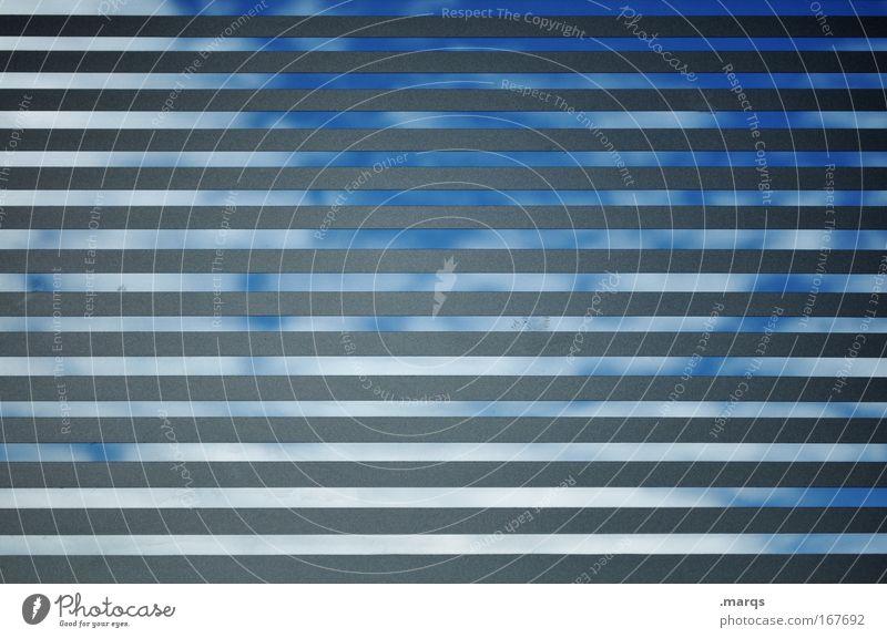 Teilweise bewölkt Himmel weiß blau Ferien & Urlaub & Reisen Wolken Farbe Erholung Gefühle Stil Fenster grau Gebäude Linie Stimmung Glas Design