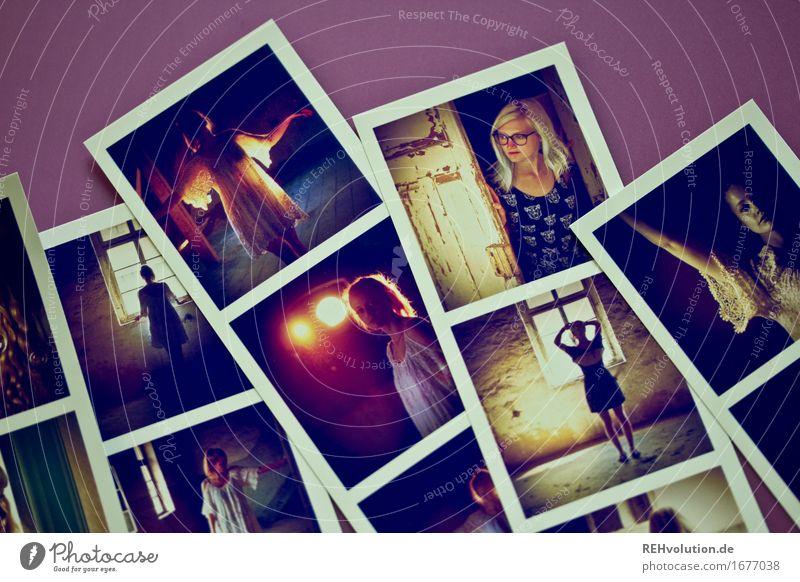 Fotos von Fotos Stil Freizeit & Hobby Mensch feminin Junge Frau Jugendliche 2 18-30 Jahre Erwachsene Mauer Wand Tür blond wählen liegen alt ästhetisch