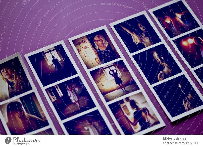 Fotos von Fotos Mensch feminin Junge Frau Jugendliche 3 18-30 Jahre Erwachsene liegen außergewöhnlich Coolness trendy retro schön violett Stimmung Identität