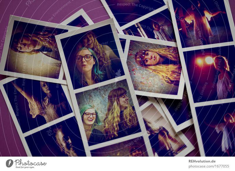 Fotos von Fotos Mensch feminin Junge Frau Jugendliche Gesicht 3 18-30 Jahre Erwachsene Jugendkultur Haare & Frisuren brünett blond langhaarig liegen authentisch