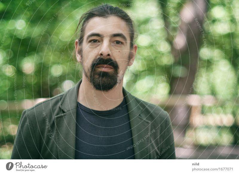 Portrait Mensch Natur Jugendliche Pflanze Sommer grün Landschaft Junger Mann ruhig Wald 18-30 Jahre Erwachsene Umwelt Frühling Stil Lifestyle