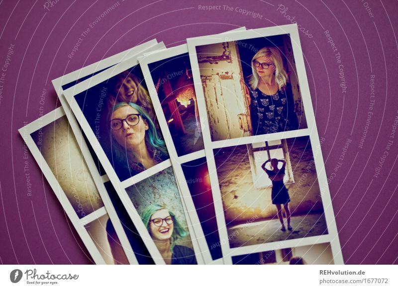 Fotos von Fotos (Jule) Mensch Jugendliche alt Junge Frau 18-30 Jahre Gesicht Erwachsene liegen Freizeit & Hobby Fotografie Coolness violett viele trendy Bild