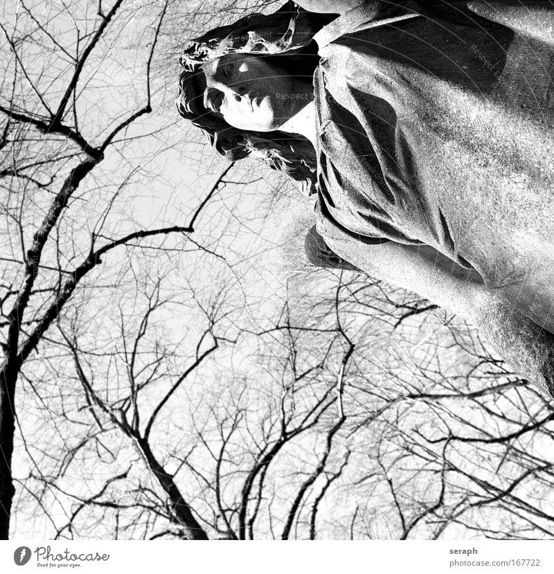 Engel Skulptur Bildhauerei mourning grave art stone garb dress folds apart quiet rests Frieden Zerreißen sandstone sculptor statuary stone-cutter