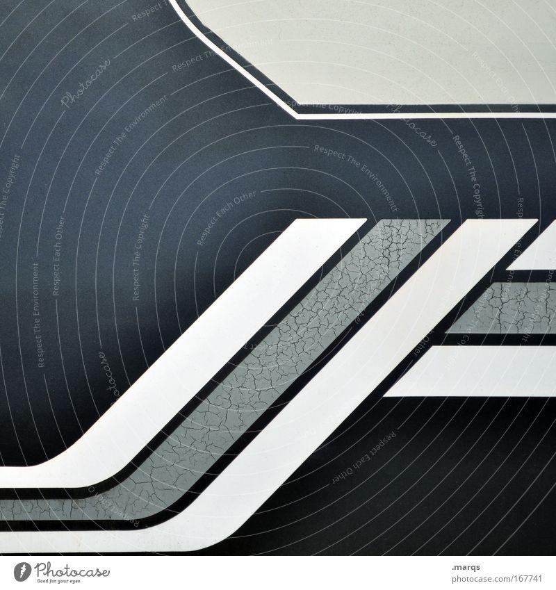 Trend blau schwarz grau Stil Linie Design Erfolg ästhetisch Wachstum außergewöhnlich Hoffnung Streifen einzigartig retro Grafik u. Illustration abstrakt